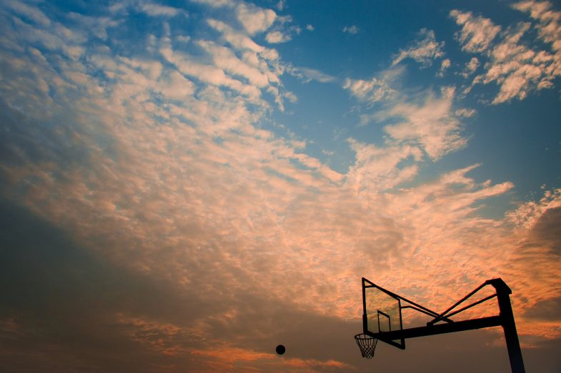 basketball net against sky