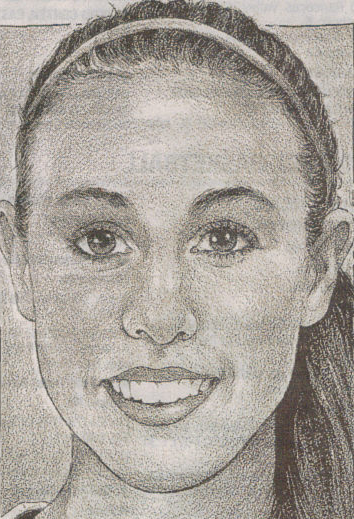 sketch of Krista Larezza