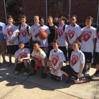 photo of boys 8th grade Battle of the Bridges Champs